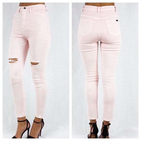 GJG Denim Denim - Thigh Slit High Waist Jeans